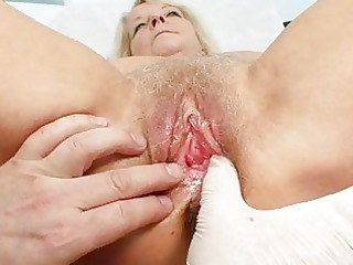 granny blonde dorota acquires her hairy cave gyno