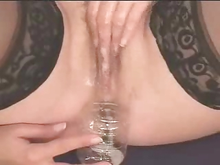 super woman gulps her cum! hot!!!