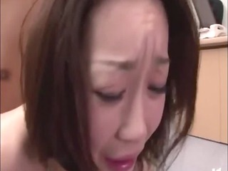 oriental older penetrated by two dicks
