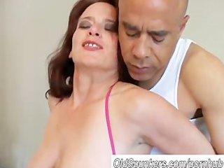 busty woman copulates a fluky guy