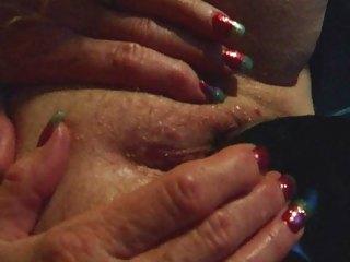 granny inexperienced cougar wife black dildo