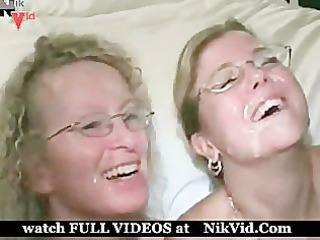 2 bleached woman inside swinger nightclub