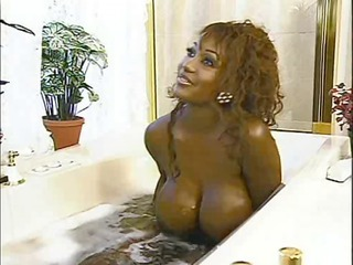 naughty huge black tits bahroom wash