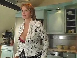 milf with large breast gets gang-banged