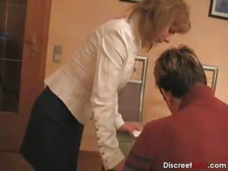 hot german lady teaches male