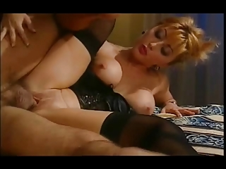 stunning asian housewife into satin basque &;
