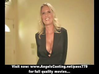 bored pale older angel with laptop undressing and