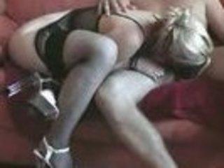 inexperienced woman doing her husband