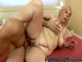 heavy older lady uneasy drilled !!