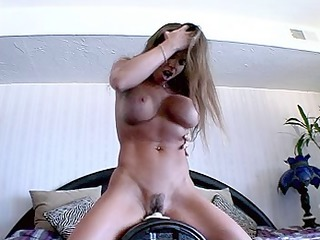 mature with ideal figure riding the sybian - part