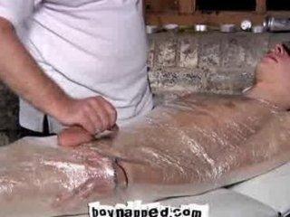 blindfolded and mummified