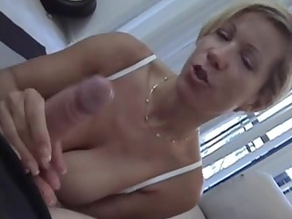 mommys friend catches u jerking off