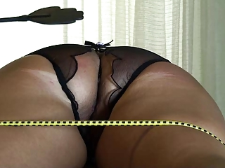 ass punishment of tied maiden