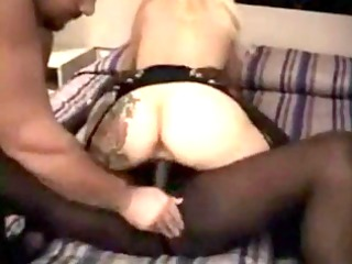 hubbt licks my dick while i copulate his babe