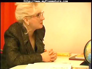 russian elderly professor and her student1 mature