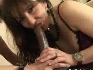 cougar brit femdom interracial cock sucking
