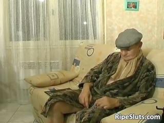 hot and insane lady likes inside elderly