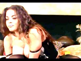 large boobed babe inside nylons a bikini and high