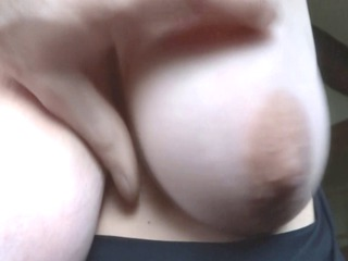 my wifes giant pure breasts, groped and fondled