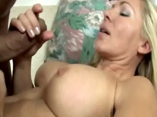 slutty extremely impressive blond matures jerking