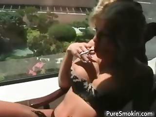 lovely albino slut smokes cigarettes part1