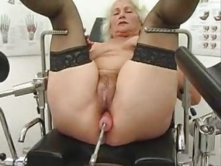 elderly norma works out on a sex mechanism
