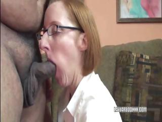 cougar layla inside a small skirt and licking a