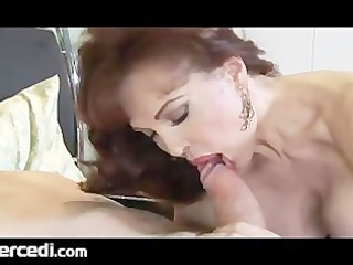 latina elderly maiden has her legs gangbanged