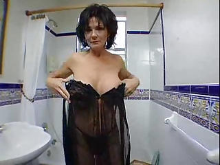 woman touching herself and sucking penis