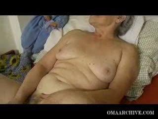 granny older angel pleasing with device