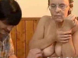 old got her furry elderly ass arse drilled