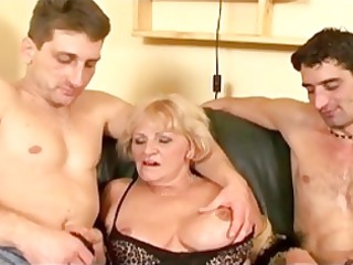 busty grandma is at it again wit