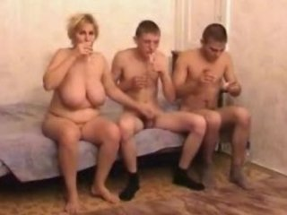 naughty grown-up milf with two men