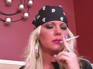 erin biker lady smoking