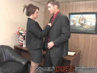 lucky stud nailing his slut boss