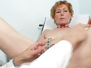 little haired blonde elderly obtains her pusys