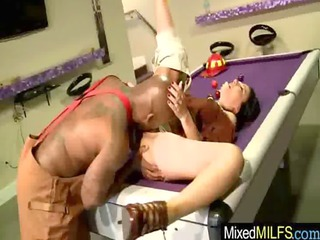 milf own drilled difficult by ebony cock vid-36
