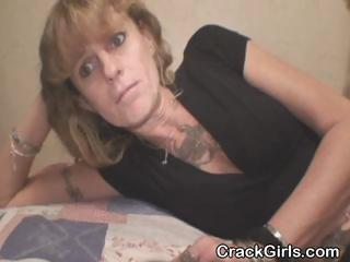 dirty old crack whore sucking libido to pay the
