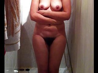 spy wonderful nude wife on hidden cam finishing