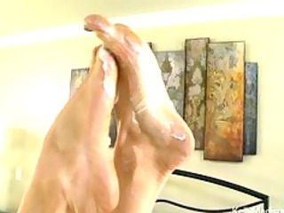 awesome boobed belle gives a fantastic footjob