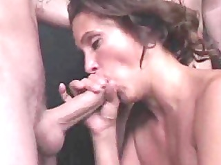 cocksucking milf covered in cum