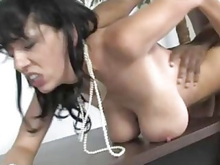 dick licking busty brunette lady acquires rammed