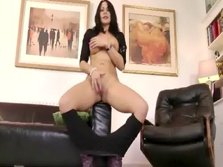 granny mature slut with a huge anal strokes a