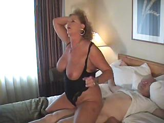 cougar girl ties her hubby up and attacks his