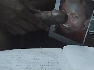 cum tributed by me from by black dick to my