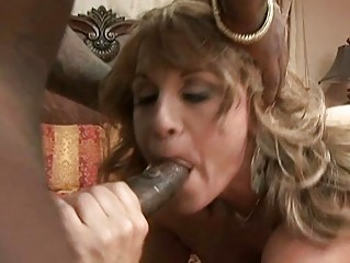 classy blond milf brutally banged by dark stag