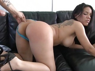 lusty and busty latino lady gives deep warm penis