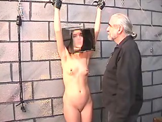 cute black haired chick receives restrained and