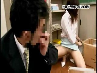 young japanese workplace tramp takes it on with