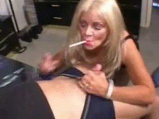 bleached mature grown-up smoking porn